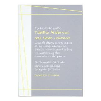 Modern Lines Yellow - 3x5 Wedding Invitation