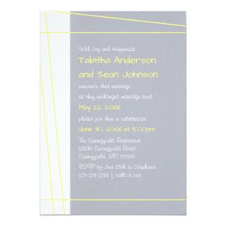 Modern Lines Yellow - Wedding Announcement