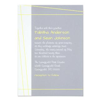 Modern Lines Yellow - Wedding Invitation