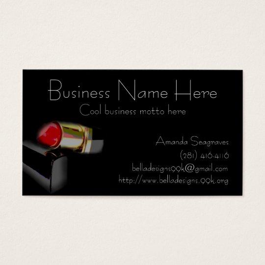 Modern Lipstick: Black Business Card