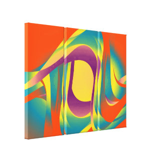 Modern liquid abstraction canvas print