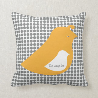 Modern Little Birdie Told Me Baby Room Gift Pillow