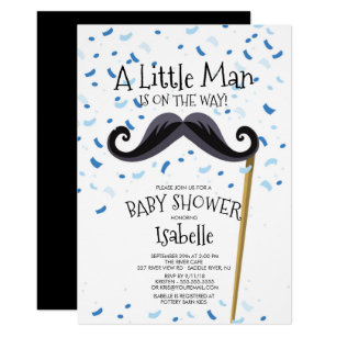 Mustache baby shower invitations zazzle modern little man mustache baby shower invitation filmwisefo