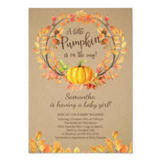 Modern Little Pumpkin Baby Shower Invitation