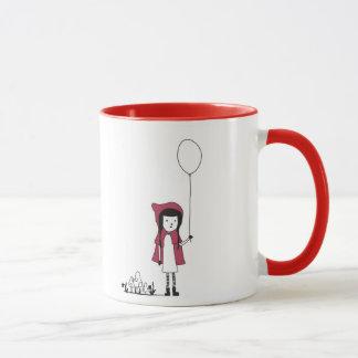 Modern Little Red Riding Hood child mug