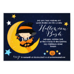 Modern Little Witch Halloween Bash Costume Party Invitation