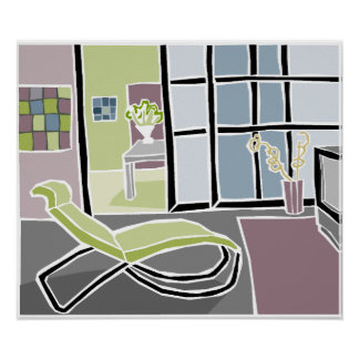 Modern Living Room Posters