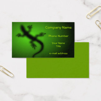 Modern Lizard Silhouette Business Card