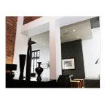 modern loft interior design postcard