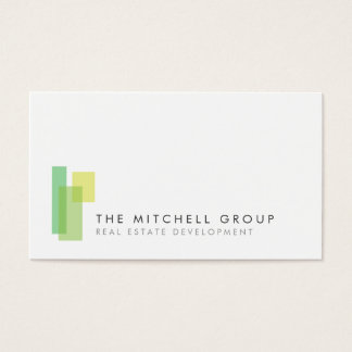 Modern Logo 3 For Real Estate Builder Architect Business Card