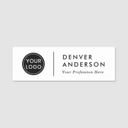 Modern logo name  and title name tag