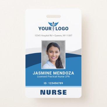 Modern Logo Template Employee Photo Name Nurse ID Badge