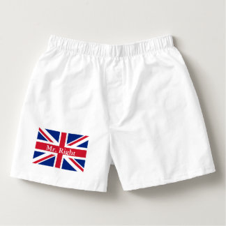 modern london fashion union jack british flag boxers