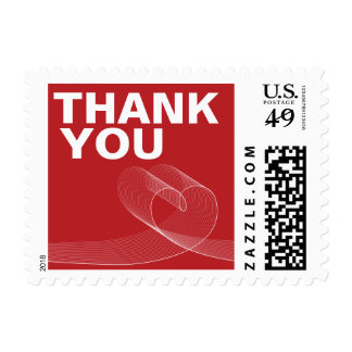 Modern Loopy Love Lines Thank You Wedding Stamps