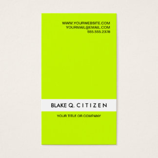 Safety green business cards images card design and card template electrical safety office products supplies zazzle modern loud neon green business card reheart images reheart Images