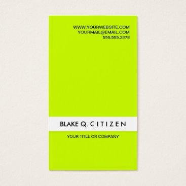 Professional Business Modern Loud Neon Green Business Card