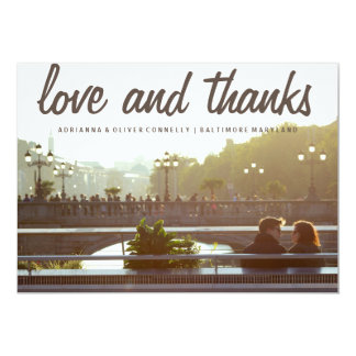 Modern Love And Thanks | Couple Photo Card