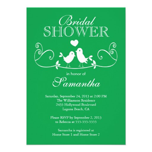 Personalized wedding cake invitations for Modern bridal shower invitations