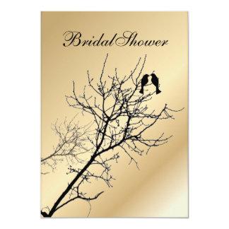 modern love birds rustic country wedding card