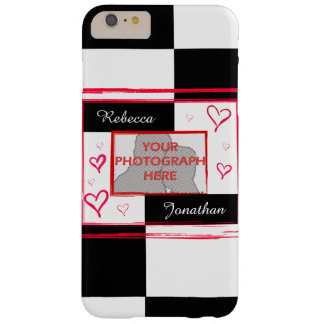 Modern Love Heart Photo Frame Barely There iPhone 6 Plus Case