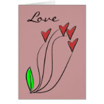 Modern Love Heart Roses Greeting Card