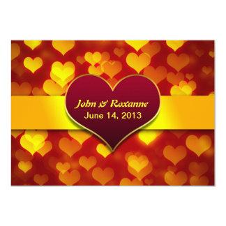 modern love hearts wedding invitations