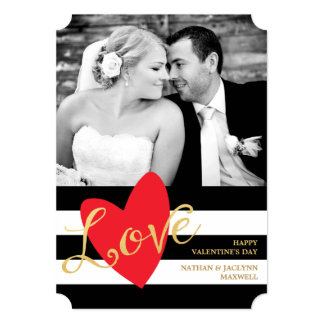 "Modern Love Valentine's Day Photo Card 5"" X 7"" Invitation Card"