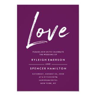 Modern Love | Wedding Invitation