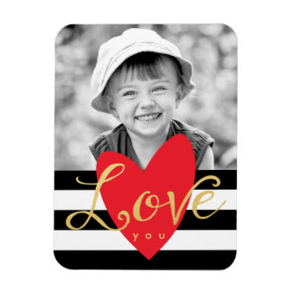 Modern Love You Photo Refrigerator Magnet