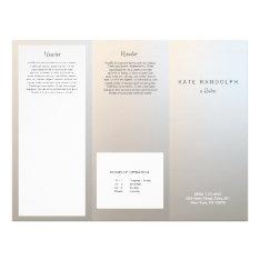 Modern Luminous Silver Salon Spa Brochure at Zazzle