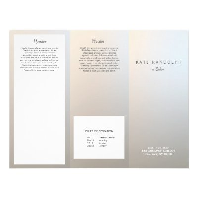 Bakery Pastry Shop TriFold Brochures – Spa Brochure