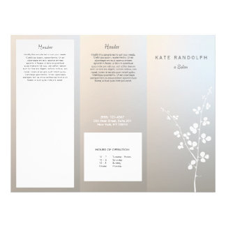 Modern Luminous Silver Salon Spa Brochure