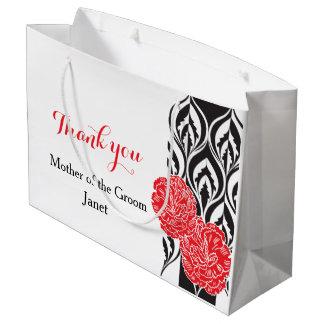 Modern luxe wedding grooms mother favor gift bag