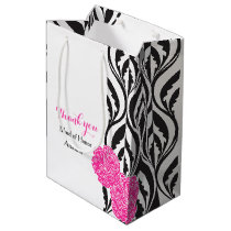 Modern luxe wedding maid of honor favor gift bag
