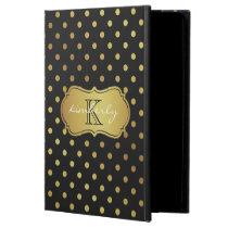 Modern Luxury Black Gold Glitter Dots Pattern Powis iPad Air 2 Case