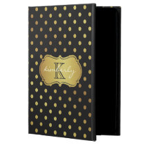 Modern Luxury Black Gold Glitter Dots Pattern Powis iPad Air 2 Case