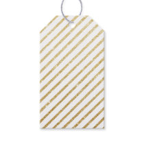 Modern luxury faux glitter gold stripes pattern gift tags