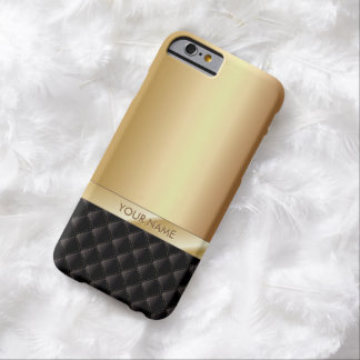 Modern Luxury Gold with Custom Name Barely There iPhone 6 Case