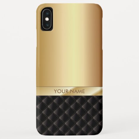 Modern Luxury Gold with Custom Name iPhone XS Max Case