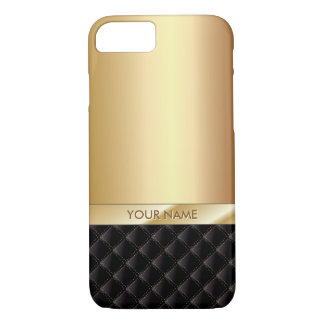 Modern Luxury Gold with Custom Name iPhone 8/7 Case