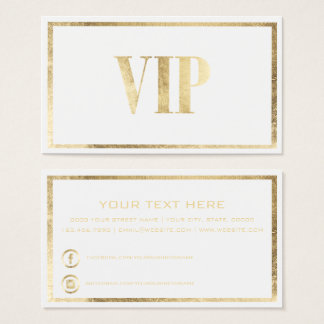 Modern luxury white gold VIP card club member