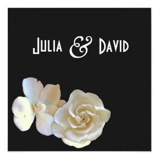 Modern Magnolia Blossom Wedding Invitation