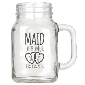 Modern Maid of Honor Wedding Mason Jar