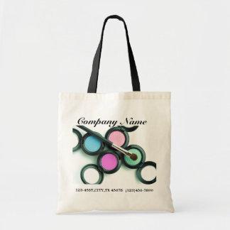 modern makeup artist business promotional budget tote bag