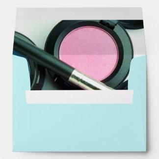 modern makeup artist business promotional envelope