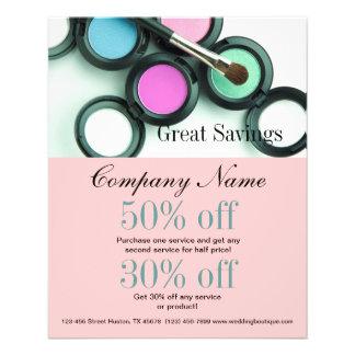 modern makeup artist business promotional flyer