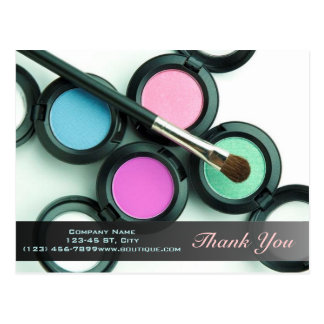 modern makeup artist business promotional postcard