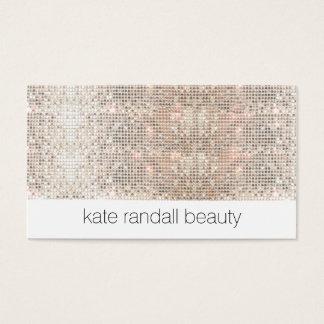 Modern Makeup Artist FAUX Sparkly Sequins Business Card
