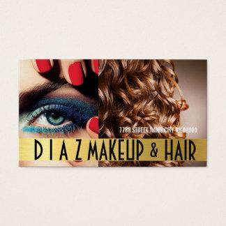 Modern Makeup Artist & Hair Salon Business Card