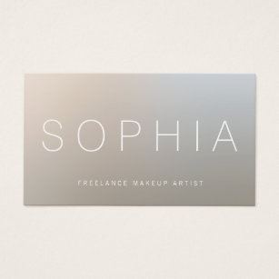 Esthetician business cards templates zazzle modern makeup artist luminous silver business card colourmoves Gallery